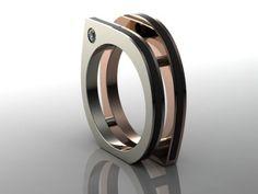 Infinite Square Unique Mens Engagement Ring