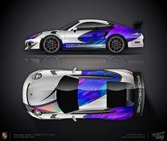 Wrap design concept #26 Race art for Porsche 911 GT3 RS 991