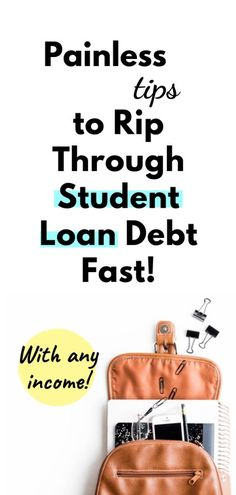 Pay off Student Loans Fast! On Any Income - Pay Off Credit - Ideas of Pay Off Credit - Student loan debt is stressful especially when you havent even landed that dream job. Luckily there are ways to pay off student loans fast no matter your income! Paying Off Student Loans, Student Loan Debt, High Paying Careers, Need Money, How To Get Money, Payday Loans Online, Loan Company, Paying Off Credit Cards, Thing 1