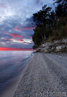 Aaron C. Jors Photography with Keywords: lake michigan shorelines Door County Wisconsin, Wisconsin Dells, Oh The Places You'll Go, Places To Travel, Places To Visit, Great Lakes, Lake Michigan, Beautiful Places, Naturaleza