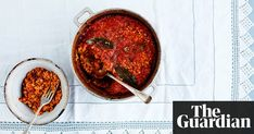 The modern cook: As our columnist makes her annual trip to Portugal, she shares two dishes picked up on previous visits, both to be made time and again: a piquant tomato rice and an Algarvian sweet potato cake
