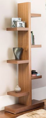 Make a statement out of your books, DVDs or CDs with this striking bookcase. Great for standing alone or against a wall, it's a contemporary alternative.