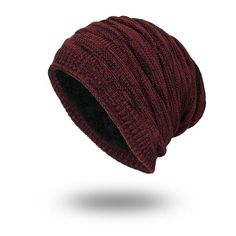 aa6709ce1a8 Solid Color Winter Beanies Plain Warm Soft Skull Knitting Cap Hats Unisex  Fashion