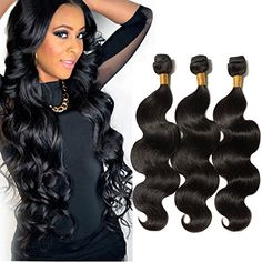 100 Real Remy Virgin Human Hair Weft Extensions 3 Bundles Body Wave Unprocessed Brazilian Hair Weave Extensions Grade Natural Black ** Be sure to check out this awesome product-affiliate link. Weave Extensions, Virgin Hair Extensions, Weave Hairstyles, Short Hairstyles, Beauty Salon Equipment, Brazilian Hair Weave, Hair Weft, Body Wave, Lace Frontal