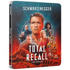 Total Recall (30th Anniversary Edition) - Limited Edition 4K Ultra HD Steelbook Blu-ray - Zavvi UK Blu Ray Movies, Sci Fi Movies, Hd Movies, Movie Tv, Arnold Schwarzenegger, Film 1990, Film D'action, Gary Oldman, Nicolas Cage