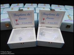"""Lembranças de batizado """"Petit Prince"""": pormenor do interior."""