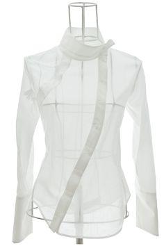 Chemise-Femme-Chic-Voile-Coton-Blanc-Eva-Ken-OKADA-face.png 500×750 pixels