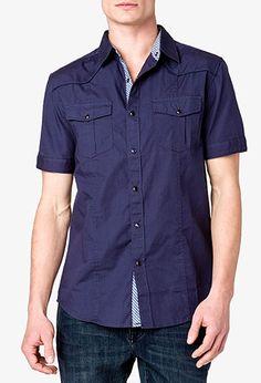 Slim Fit Short Sleeve Shirt | 21 MEN - 2000049532