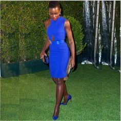 #celebwelove Lupita stepping out & serving it! Nice color & dress. #curlkit loves #lupitanyong'o