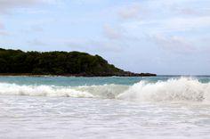 Vieques, Puerto Rico. Beach waves