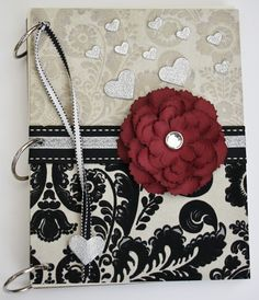 Notebook featuring embossed 3D Foam Hearts from Scrapbook Adhesives by 3L, by Christine Emberson.