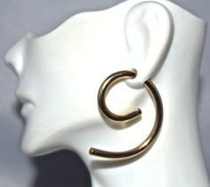 8 Gauge Gold Swirly 6 Earrings by SilverSunStudio on Etsy