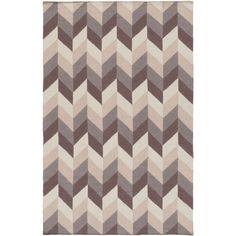 Hand-Woven Kristy Contemporary Wool Rug (2' x 3') (Grey-(2' x 3')), Grey, Size 2' x 3'