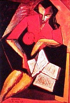 Mulher lendo, 1947 Antônio Bandeira (Brasil, 1922-1967)