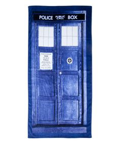 Look what I found on #zulily! Doctor Who TARDIS Beach Towel #zulilyfinds