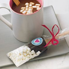 two hot chocolate dippers with marshmallows by the chocolate deli | notonthehighstreet.com