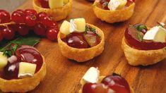Walnut, Brie and Grape Salsa Tartlets