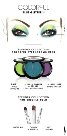 COLORFUL: Blue Glitter 2 HOW TO. #sephoracollection #sephora #mua #eyeshadow