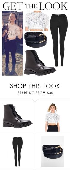 """perrie edwards outfit.❤✌"" by qatrinaedwards ❤ liked on Polyvore featuring Kurt Geiger, Topshop and American Apparel"