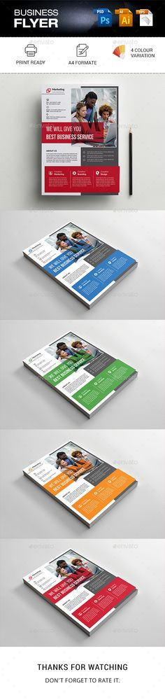 Corporate Business Flyer Template PSD, Vector EPS, AI