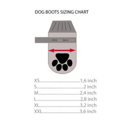 dog boots sizing chart