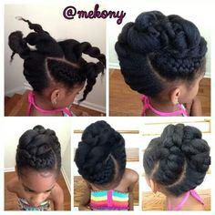 simple natural hair protective styles - Google Search