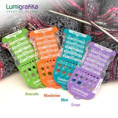 Combo Gauge. Knitter's Multitool | Etsy Needle Gauge, Double Knitting, Needles Sizes, Creative Studio, Gauges, Swatch, How To Make, Etsy, Products