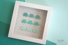 Ombre Elephant Shadowbox | Hey Love Designs