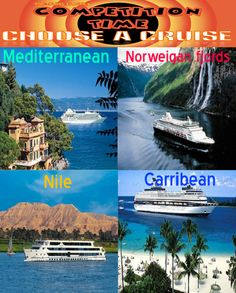 NEW COMPETITION **CHOOSE A CRUISE** NEW COMPETITION  Win the cruise of your choice for upto 6 people. Cruise will be 10 / 14 days depending on choice. To enter simply follow the 3 steps: ALL 3 STEPS MUST BE COMPLETED TO ENTER..... 1 ´LIKE´ the post. 2 ´SHARE´ the post. 3 ´COMMENT´ with the cruise of your choice. Winner will be drawn once we reach 5500 Likes on our page. Additional by following us on Google+ / Tumbler / Pinterest and Twitter.