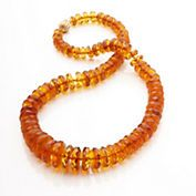 Gump's Faceted Amber Necklace