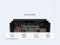 Dribbble - SeatGeek iOS tabbar by Mladen Zivanovic