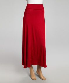 Take a look at this Red Maxi Skirt by Chris & Carol on #zulily today!