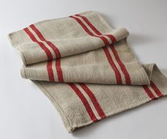 Grain Sack Red/Cream