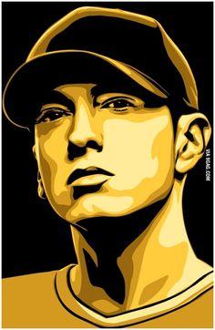 Arte Do Hip Hop, Hip Hop Art, Vector Portrait, Digital Portrait, Pop Art Portraits, Portrait Art, Eminem Wallpapers, Iphone Wallpapers, Capas Samsung