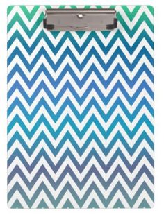Blue chevron pattern clipboards $34.20