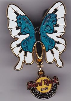Hard Rock Cafe Hollywood, Ca Butterfly Pin