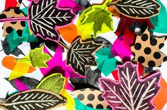 This fall leaf art craft is super fun, but also helps kids learn tons of important art concepts! | via barley & birch