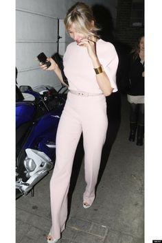 pale pink suit