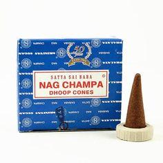 Nag Champa - Satya Sai Baba Incense Cones - The Hippie House Hippie House, Sathya Sai Baba, Nag Champa Incense, Sacred Plant, Burning Incense, Spiritual Teachers, Incense Cones, Earthy, Resins