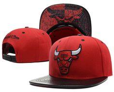 0c2d485f93d98 NBA Chicago Bulls Snapback Hat Leather Baseball Cap