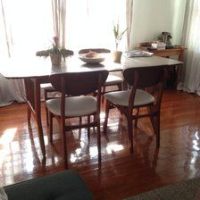 Mid Century Modern Dining Table and chairs. $600