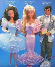 My favorite Barbie! My sister had Whitney, the blue dress. Barbie - Perfume Pretty, 1987
