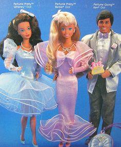 My favorite Barbie! My sister had Whitney, the blue dress. Barbie - Perfume Pretty, 1987