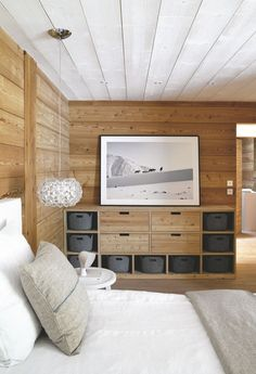 Mountain decoration: revamp your house in a chalet! Chalet Design, Chalet Style, House Design, Chalet Interior, Interior Design, Interior Decorating, Decorating Ideas, Mountain Decor, Beautiful Bedrooms