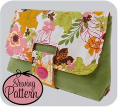 Purse Palooza :: Pattern Review : Michelle Patterns Strap Clutch - Sew Sweetness