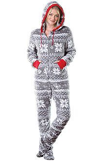 cool Hoodie-Footie™ - Women, Footie PJs for Women, Footed Pajamas