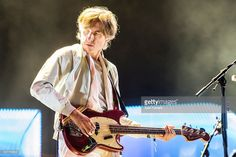 Nicolas Godin of Air performs in concert during the second day of Primavera Sound 2016 on June 2016 in Barcelona, Spain. Get premium, high resolution news photos at Getty Images French Artists, Bass, Two By Two, Live, Concert, Pictures, Image, Photos, Concerts