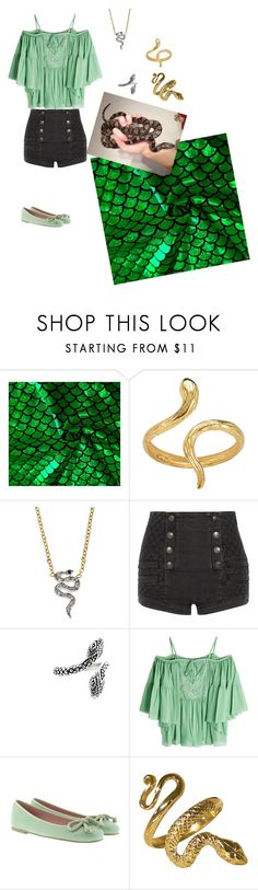 """""""Evra Von.  From Darren Shan's Cirque du Freak series💚"""" by ravenclaw-woman-of-letters ❤ liked on Polyvore featuring Madina Visconti di Modrone, Kacey K Fine Jewelry, Pierre Balmain, Bali, Roberto Cavalli and Pretty Ballerinas"""