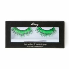 St. Patrick's Day Metallic Green False Eyelashes