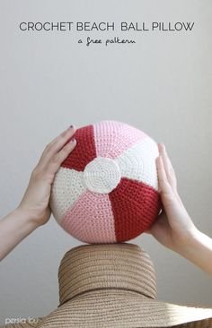 *This post was originally created by me for Darice. Just because it's summertime and the weather is hot doesn't mean you can't still enjoy some crochet. I like small projects in the warmer months (no one wants a big afghan spread across their lap in August, amiright?). This little beach ball pillow is the perfect …